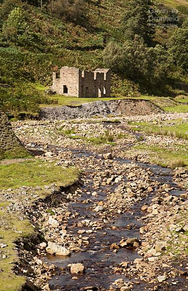 Sir Francis Mine building and Gunnerside Beck