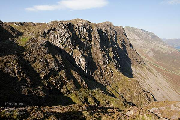 Crags on north face of Haystacks from Green Crag