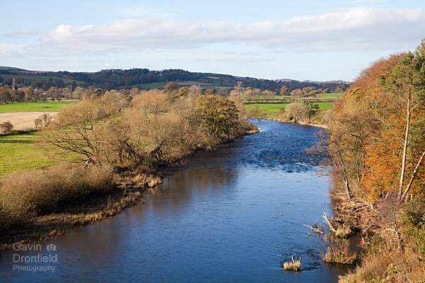 view from kirk bank overlooking river eden