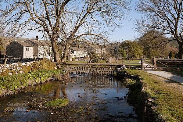 Malham Beck flowing through Malham village