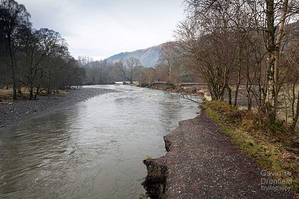 path collapse by River Greta after Storm Desmond