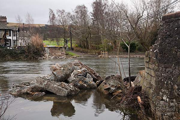 Storm Desmond damage to Pooley Bridge