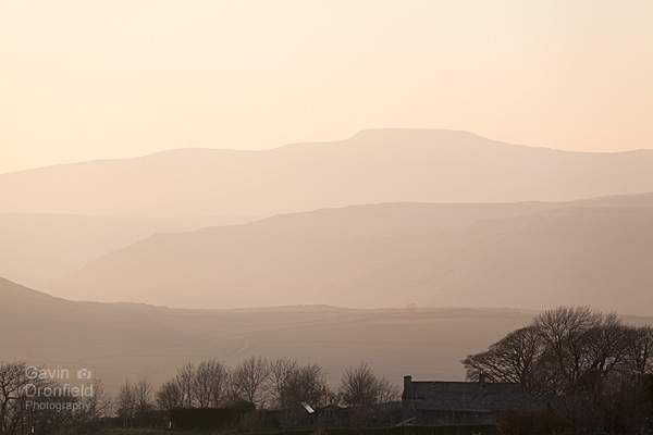 serene sunset over Ingleborough from Upper Winskill