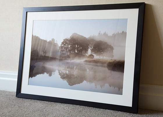framed print of Lake District landscape photograph
