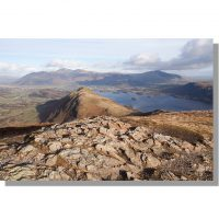 Catbells and Skiddaw from Maiden Moor summit