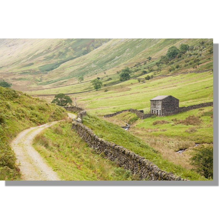Troutbeck barn and track in Hagg Gill