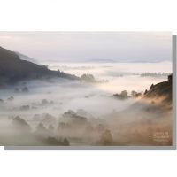 Great Langdale Valley covered in autumnal fog