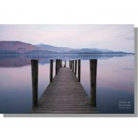 view across Derwent Water from Ashness Jetty at dawn