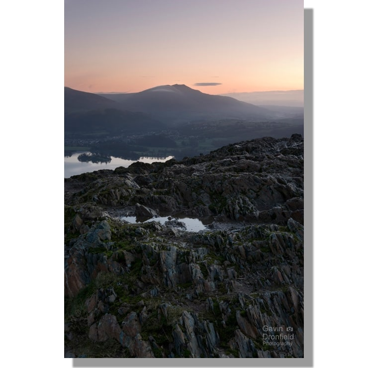Blencathra from Catbells crag at dawn