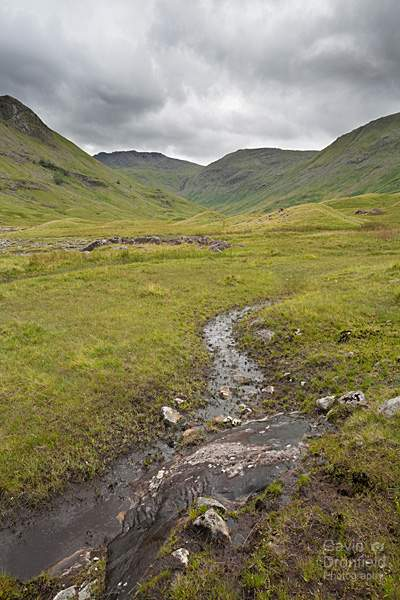 esk pike and allen crags at the head of the boggy langstrath valley