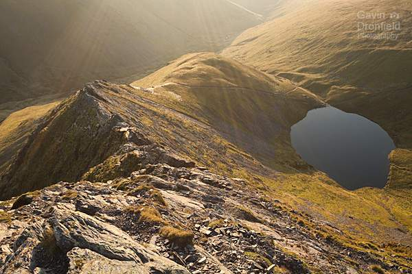 Sharp Edge and Scales Tarn at dawn