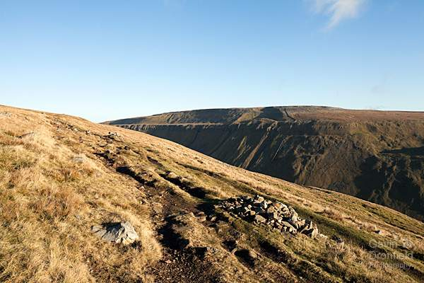 edge of high cup gill on bright winter day from the pennine way path