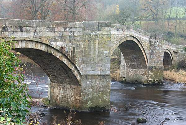 Barden Bridge over the River Wharfe in autumn