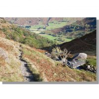 Hartsop Valley in bright sunshine from Dovedale