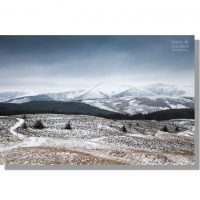 Snowy Coledale Fells over Whinlatter from Lords Seat