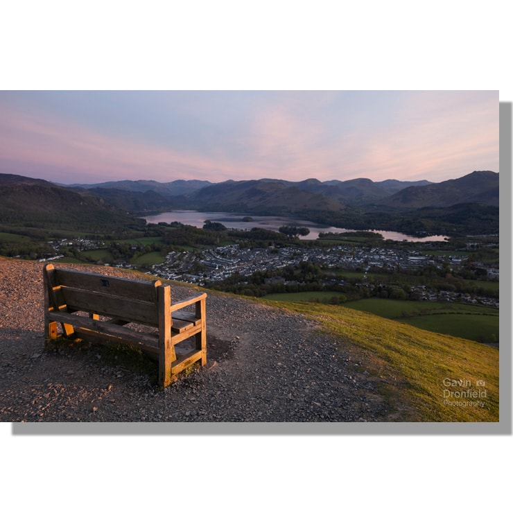 Keswick and Derwent Water from Latrigg bench
