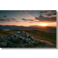 Ullswater and Blencathra from Arthurs Pike at sunset