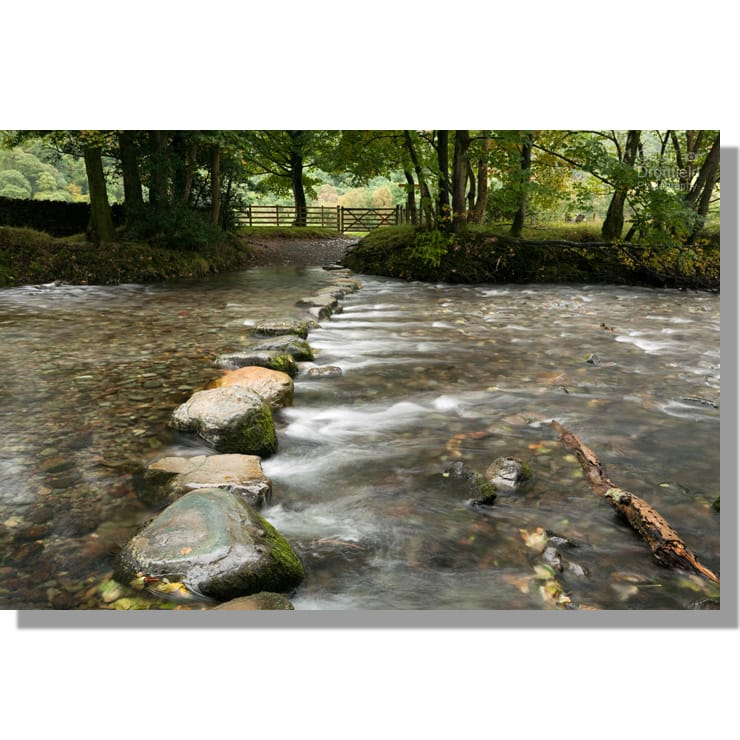 River Derwent stepping stones at Rosthwaite