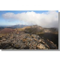 Grisedale Pike through clouds from Hopegill Head