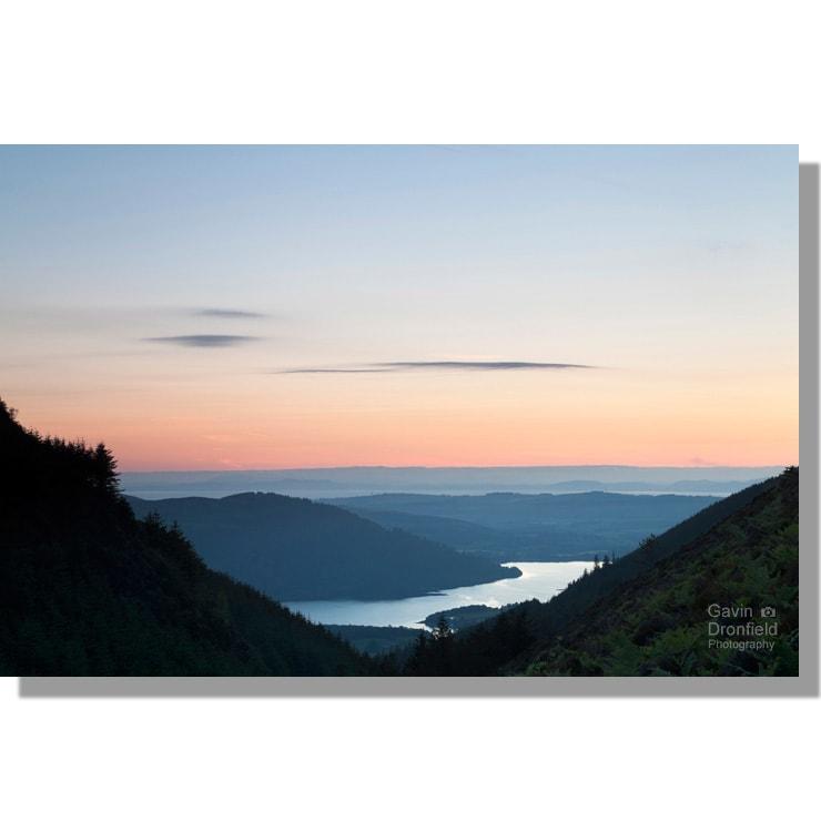 Colourful Bassenthwaite Lake summer sunset