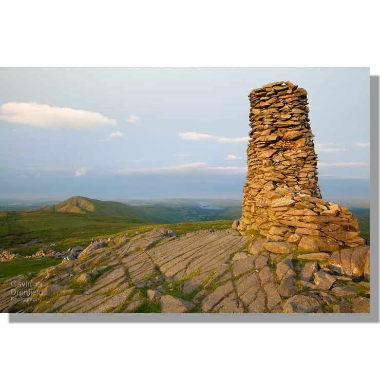 Thornthwaite Beacon view of Ill Bell, Froswick and Windermere at dawn