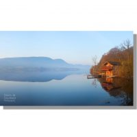 Duke of Portland Boathouse on Ullswater dawn panorama