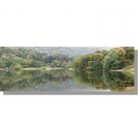 Rydal Water autumn woodland reflections