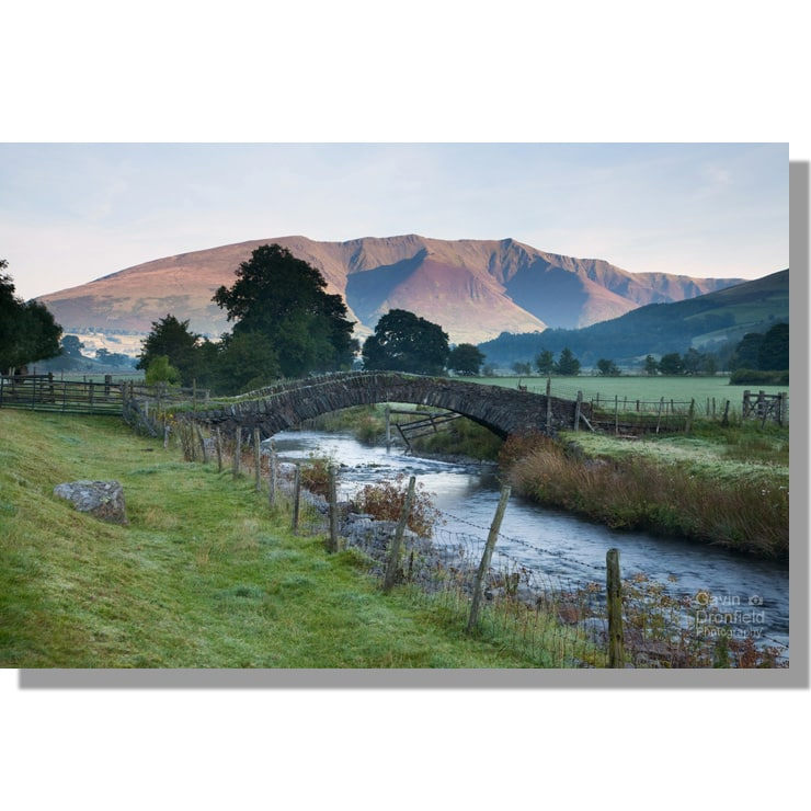 Blencathra at dawn from Sosgill Bridge
