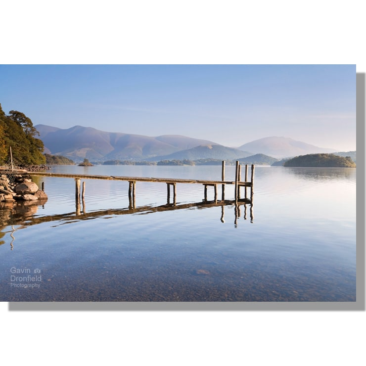 dawn over Derwentwater from Low Brandelhow Jetty