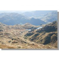 Sergeant Man view of Bright Beck and great langdale on a bright day