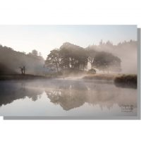 River Brathay autumn misty dawn