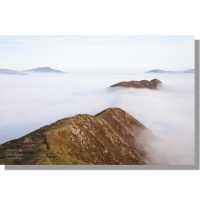 Causey Pike summit above cloud inversion from Scar Crags