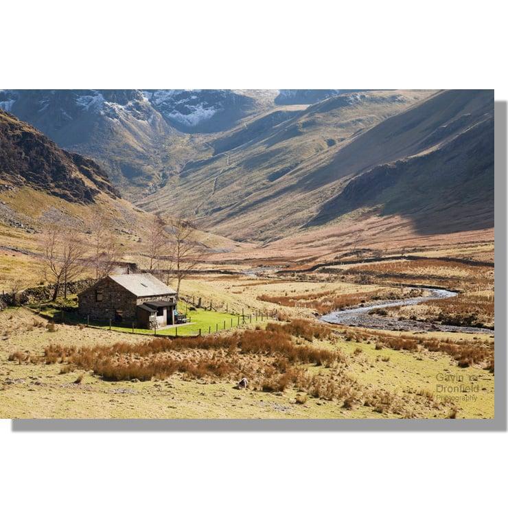 Newlands Valley mountain hut beside Newlands Beck