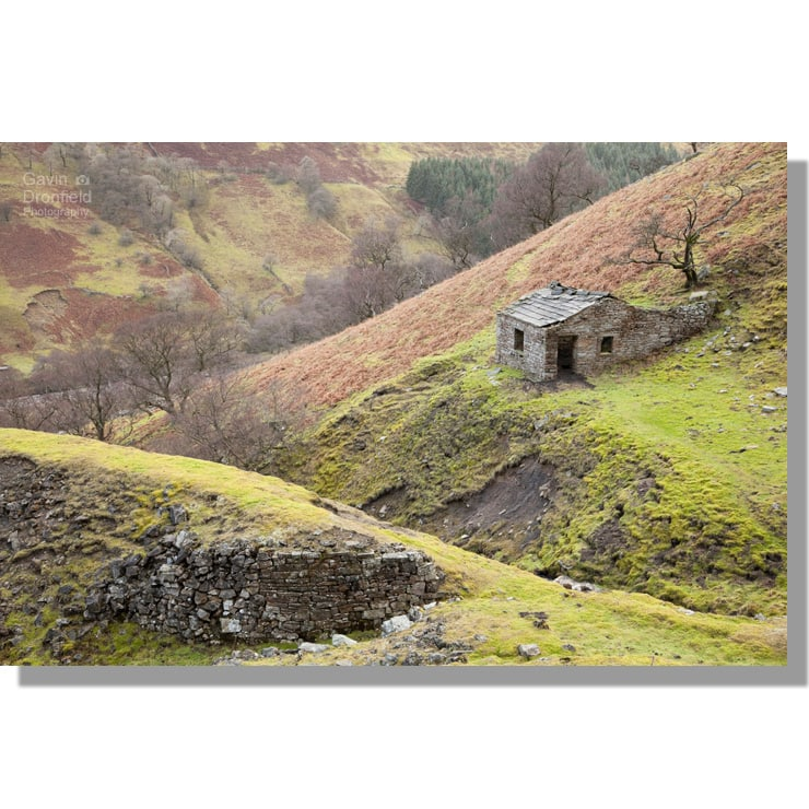 lead mining hut next to arn gill above colourful swaledale