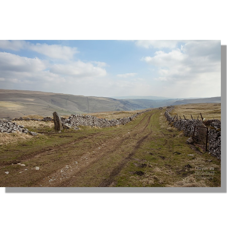 top mere road green lane view of wharfedale valley in spring