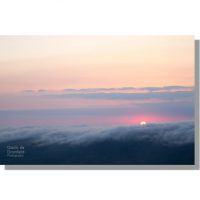 red sunrise over cloudy high seat ridge above mallerstang