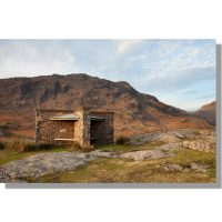middle fell southern face overlooking the shelter near wast water shore with winter colours