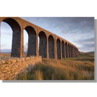 Arches of Ribblehead Viaduct at sunset