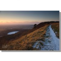 Winter sunset over Gormire Lake from Cleveland Way